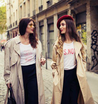 T-shirt blanc s.nob imprimé femme