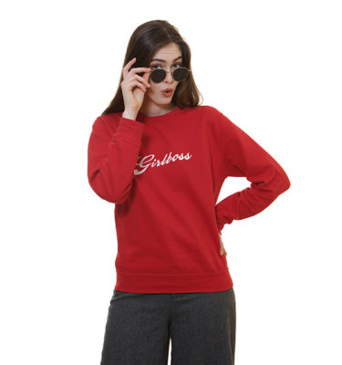 girlboss-sweat-shirt-rouge