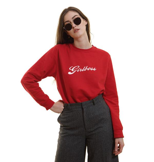 sweat-shirt-rouge-girlboss