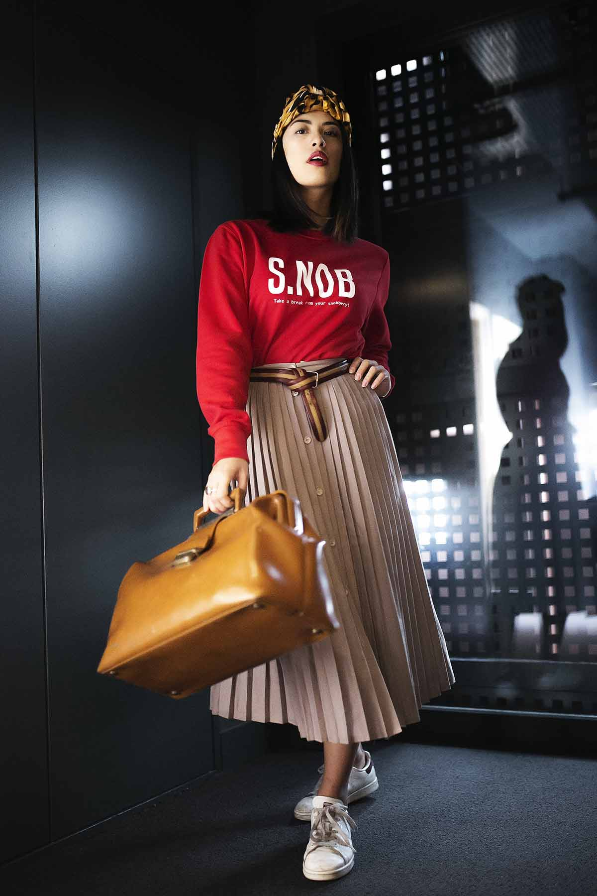 Sweatshirt rouge s.nob imprimé femme