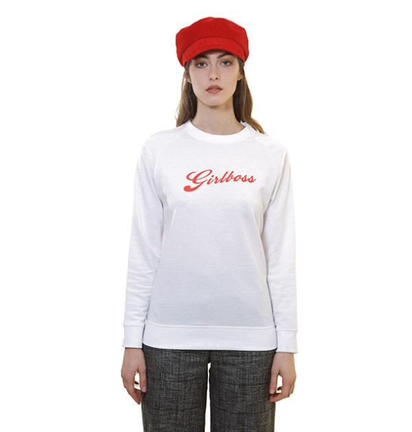 sweat-shirt-blanc-girlboss