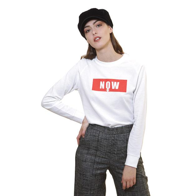 now-sweat-shirt-léger-blanc