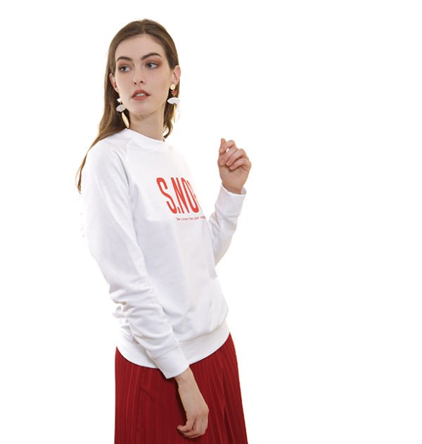 sweat-shirt-snob-blanc-léger
