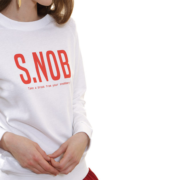 snob-sweat-shirt-léger-blanc