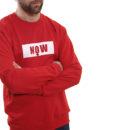 sweat-shirt-rouge-now-unisexe