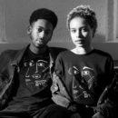 féminin-coupe-unisexe-T-shirt Guillaume & Laurie noir