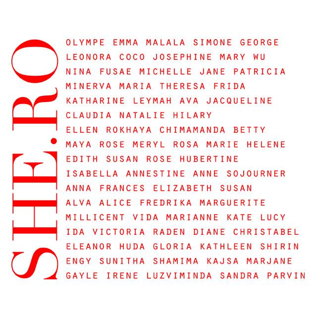 visuel héroïnes de la marque leonor roversi, prenoms de femme qui ont marqués l'histoire