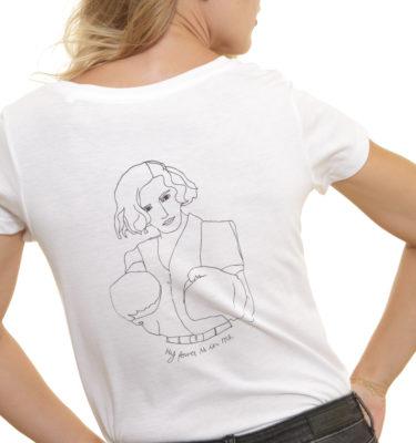féminin-coupe-femme-T-shirt Freyja