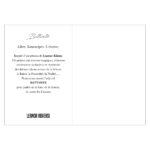 Le dos du carte postale Klimt Leonor Roversi