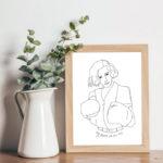 Affiche Freyja dans un cadre en bois de la marque leonor roversi