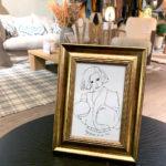 carte freyja, dans un cadre dorée de la marque leonor roversi