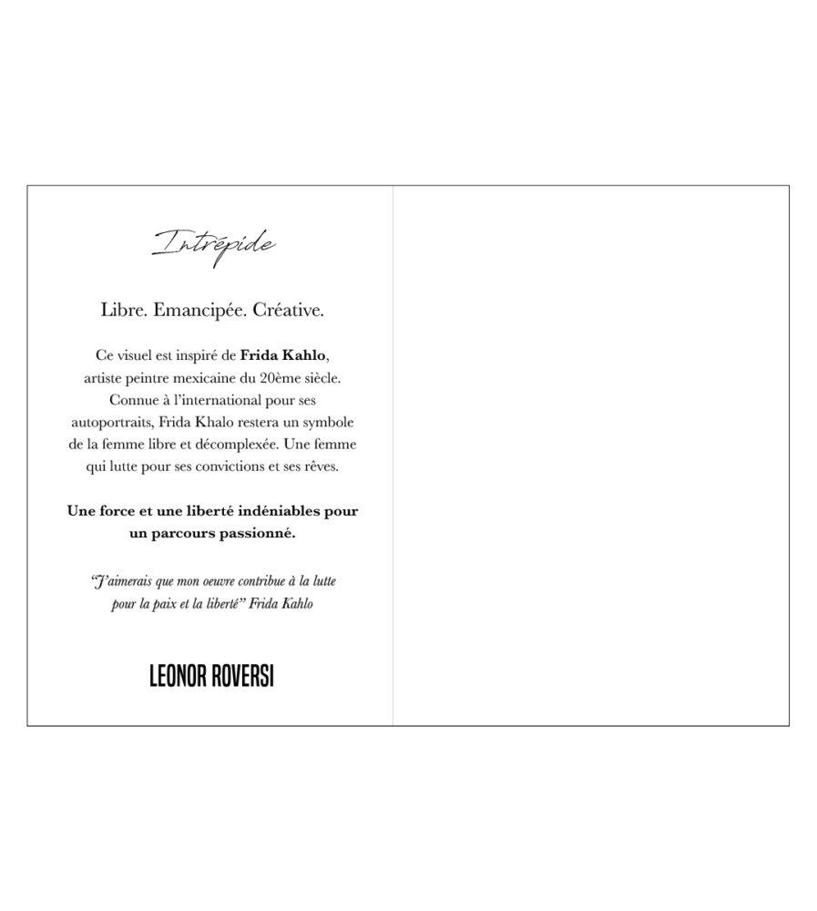 Le dos du carte postale Frida Leonor Roversi
