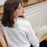 sweatshirt crème thémis de la marque leonor roversi