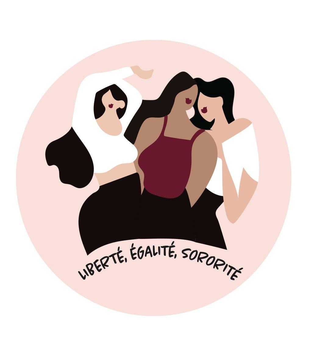 Illustration Leonor Roversi, qui montre une marque engagé pour la sorité, l'entraide entre femmes