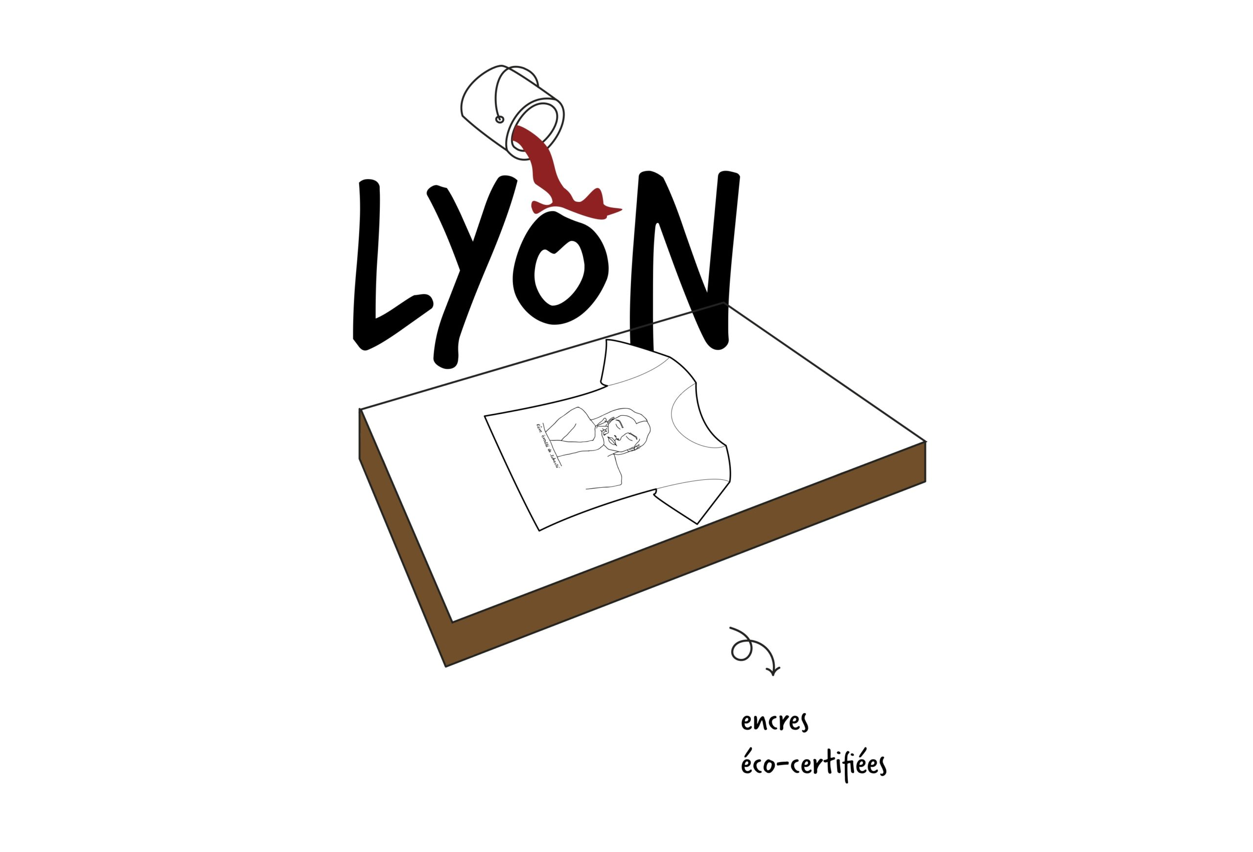 Illustration de l'impression d'un t-shirt Leonor Roversi à Lyon