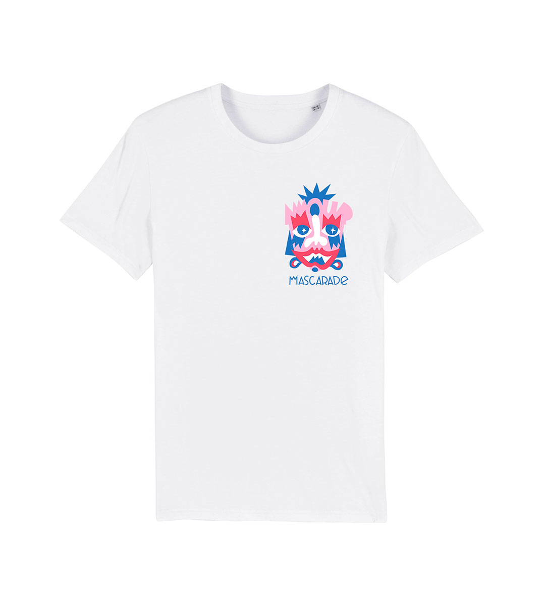 mockup tshirt rose mascarade