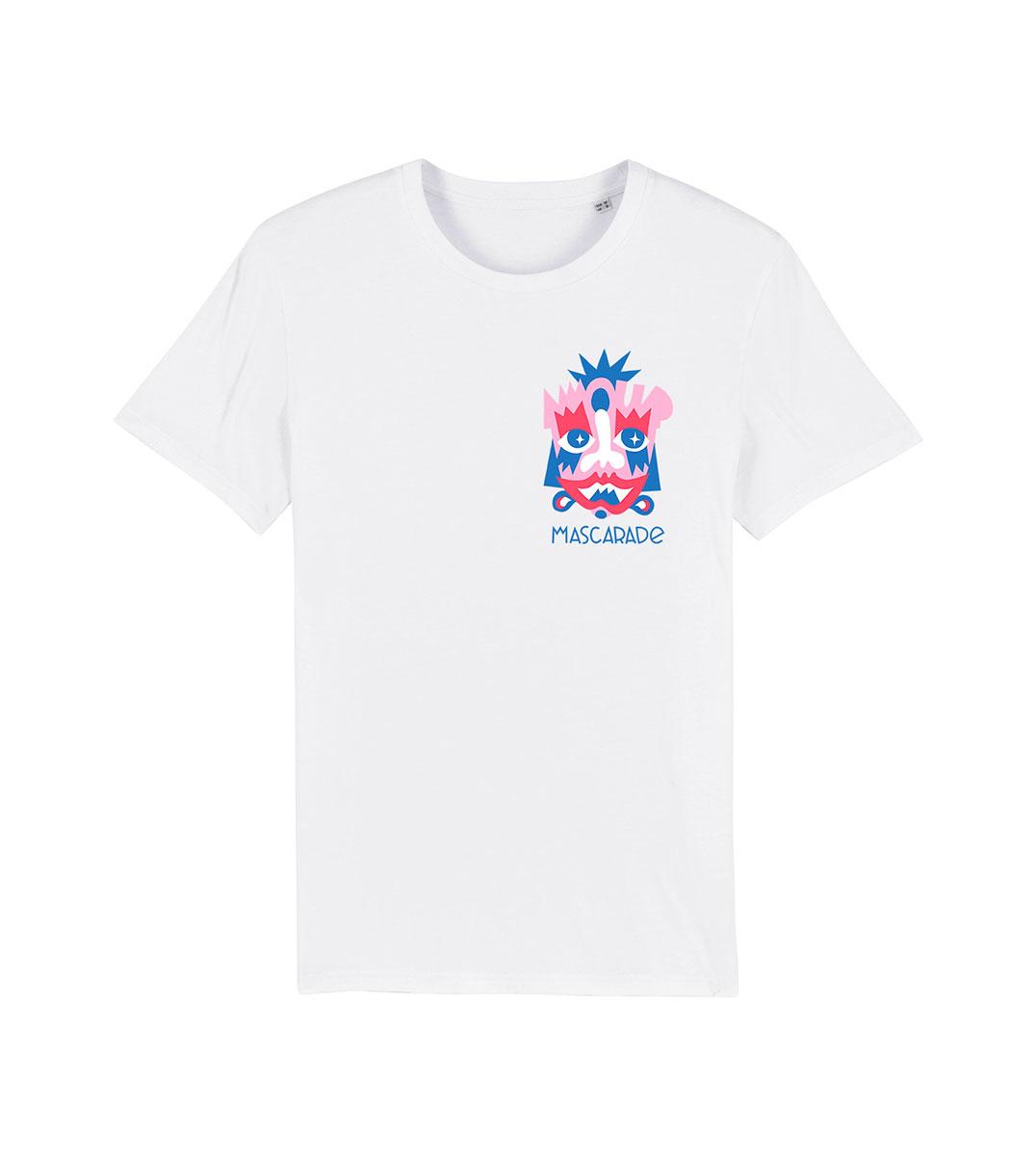 mockup tshirt rose mascarade