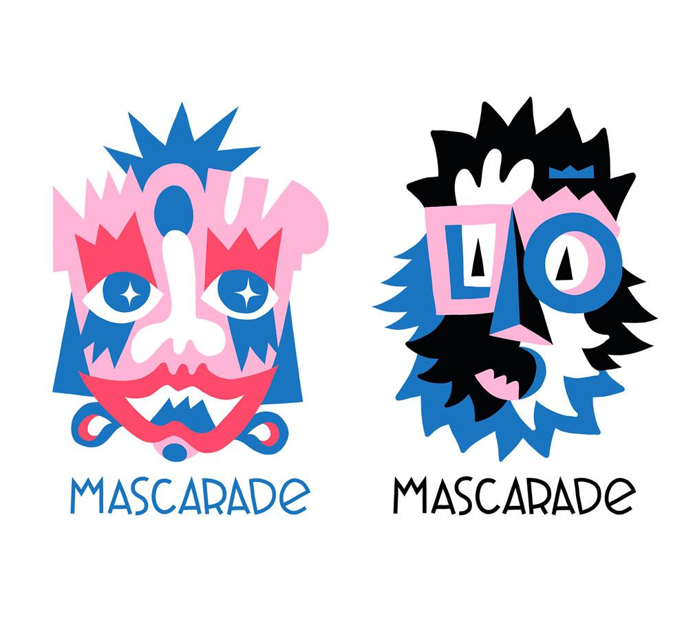 Mascarade collaboration Leonor Roversi X Guillaume & Laurie