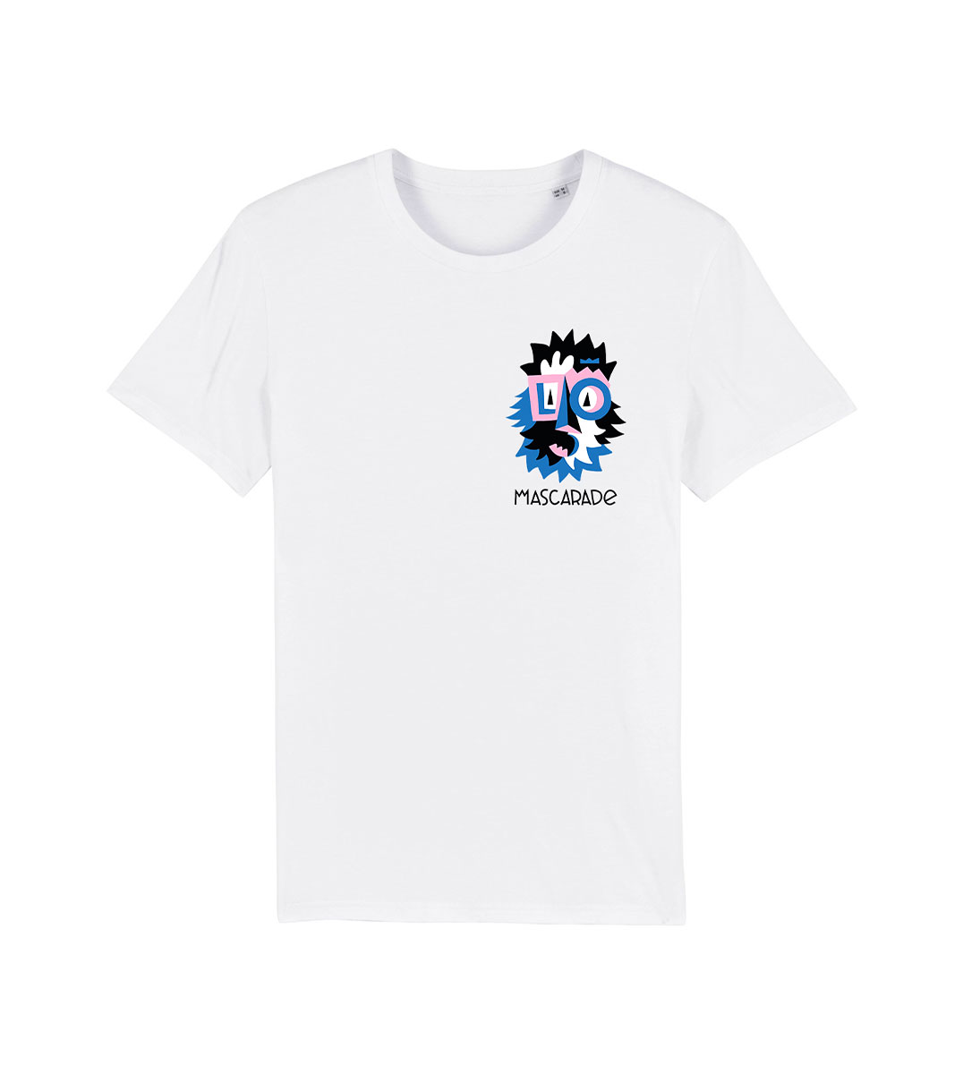 mockup tshirt bleu mascarade