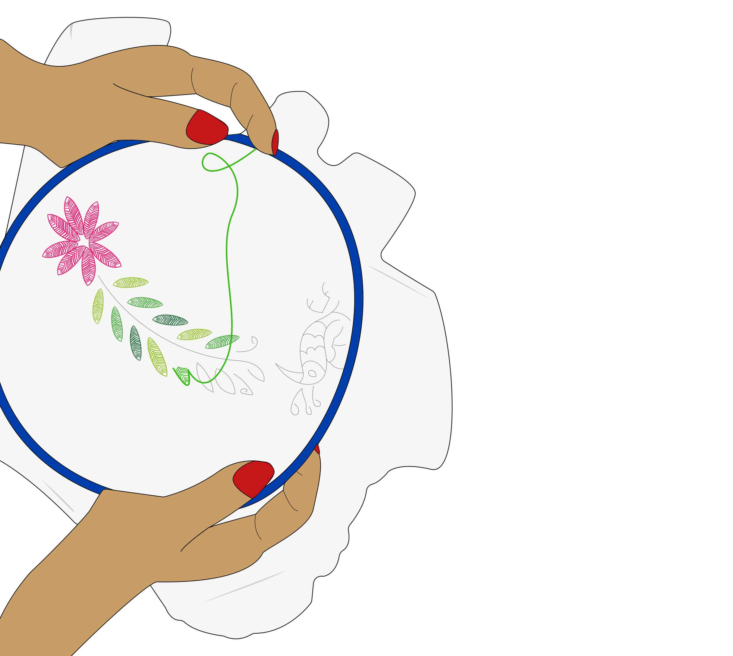 dessin broderie fait main Leonor Roversi