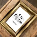 carte postale leonor roversi sorority dans un cadre de décoration