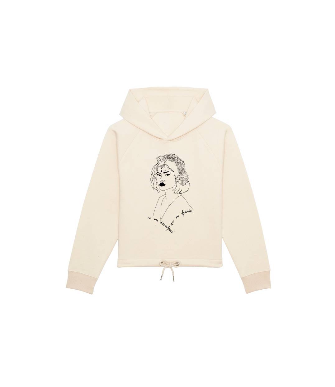 mockup sweatshirt à capuche beige avec dessin devant