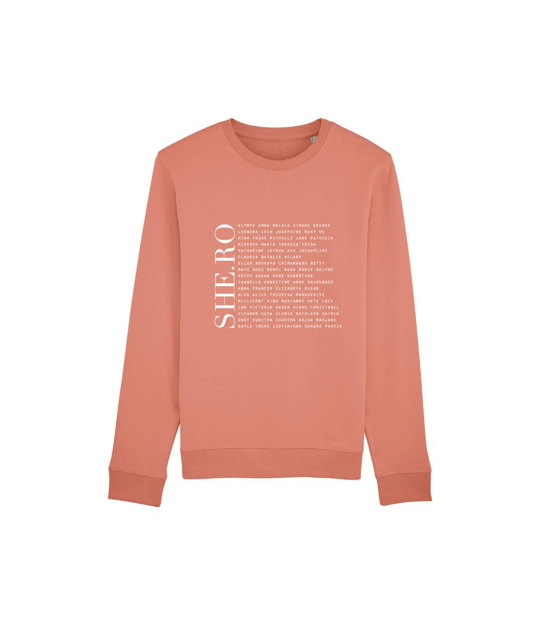 mockup sweatshirt rose feministe shero leonor roversi