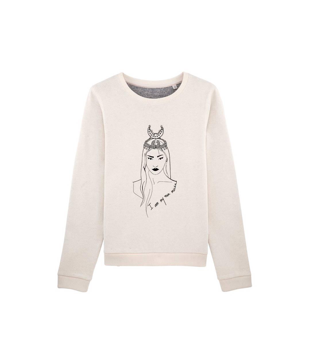 mockup sweatshirt creme avec dessin coyoqui leonor roversi