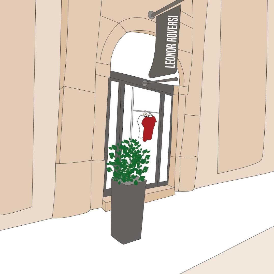 illustration de la boutique Leonor Roversi