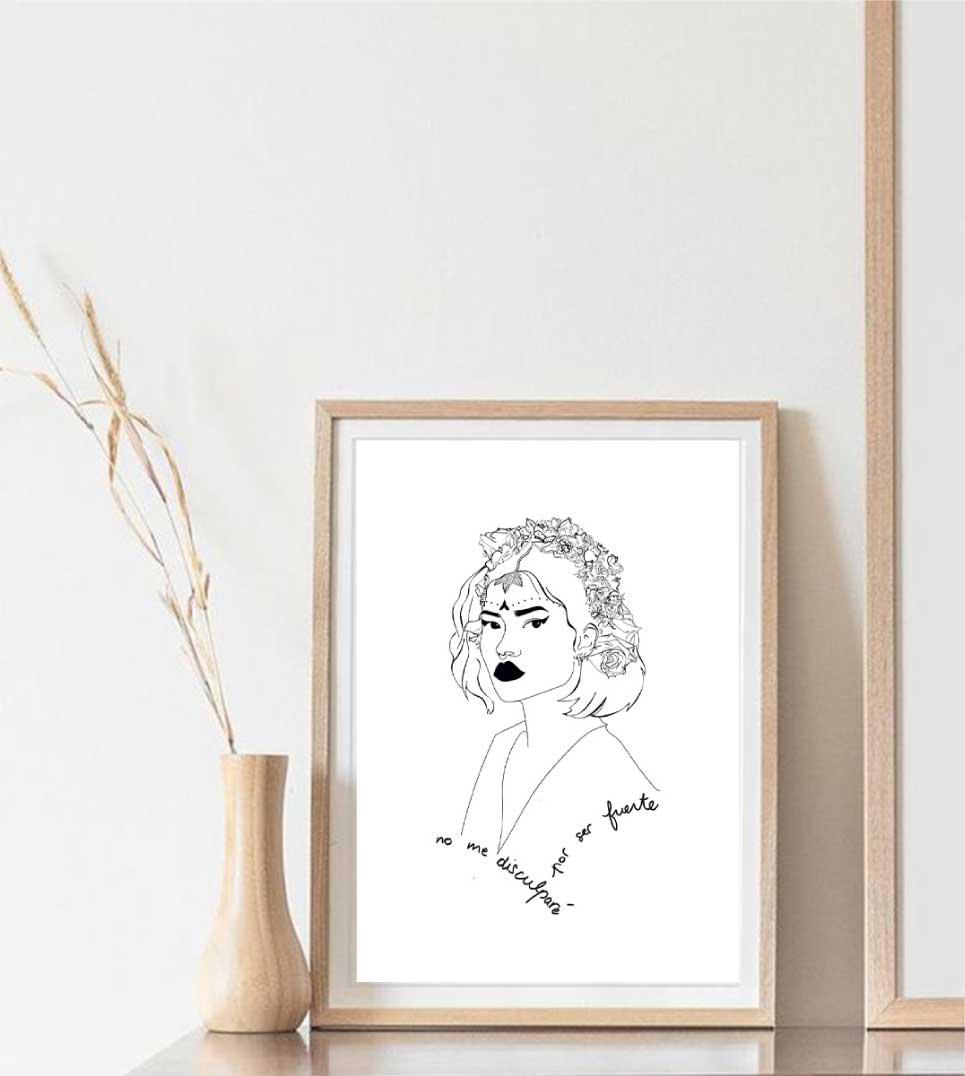 affiche du dessin de lupita dans un cadre