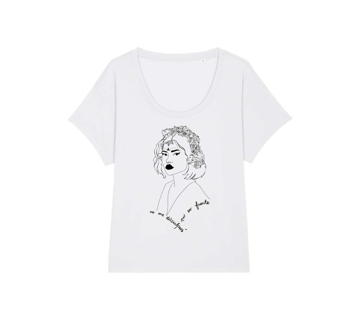mock up t-shirt loose blanc lupita collection reinas