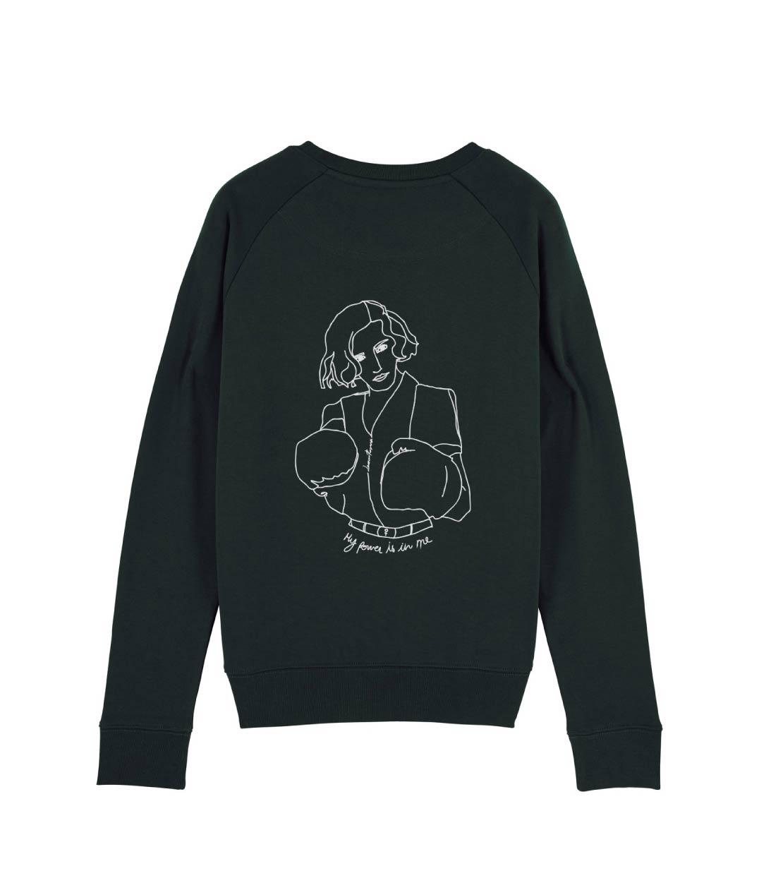 mock up sweatshirt noir freyja de dos
