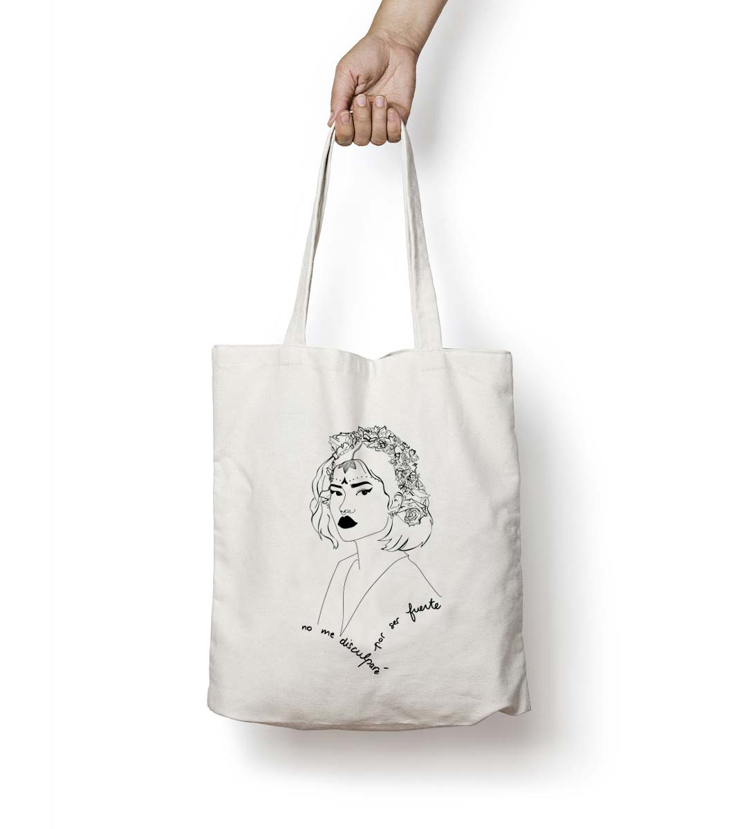 mock up tote bag lupita