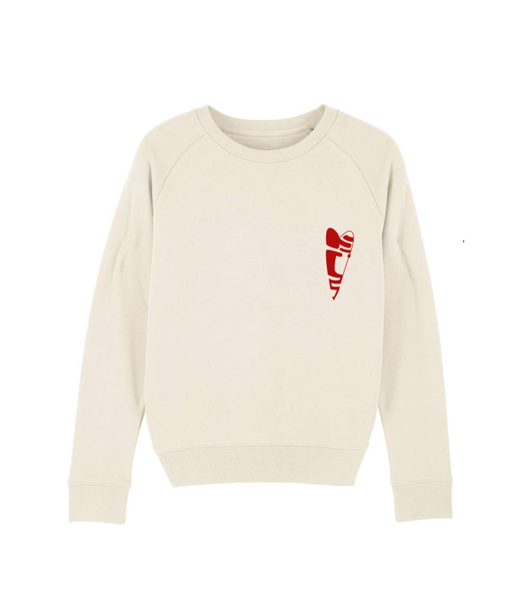 mock up sweat crème femme collection capsule love abracito