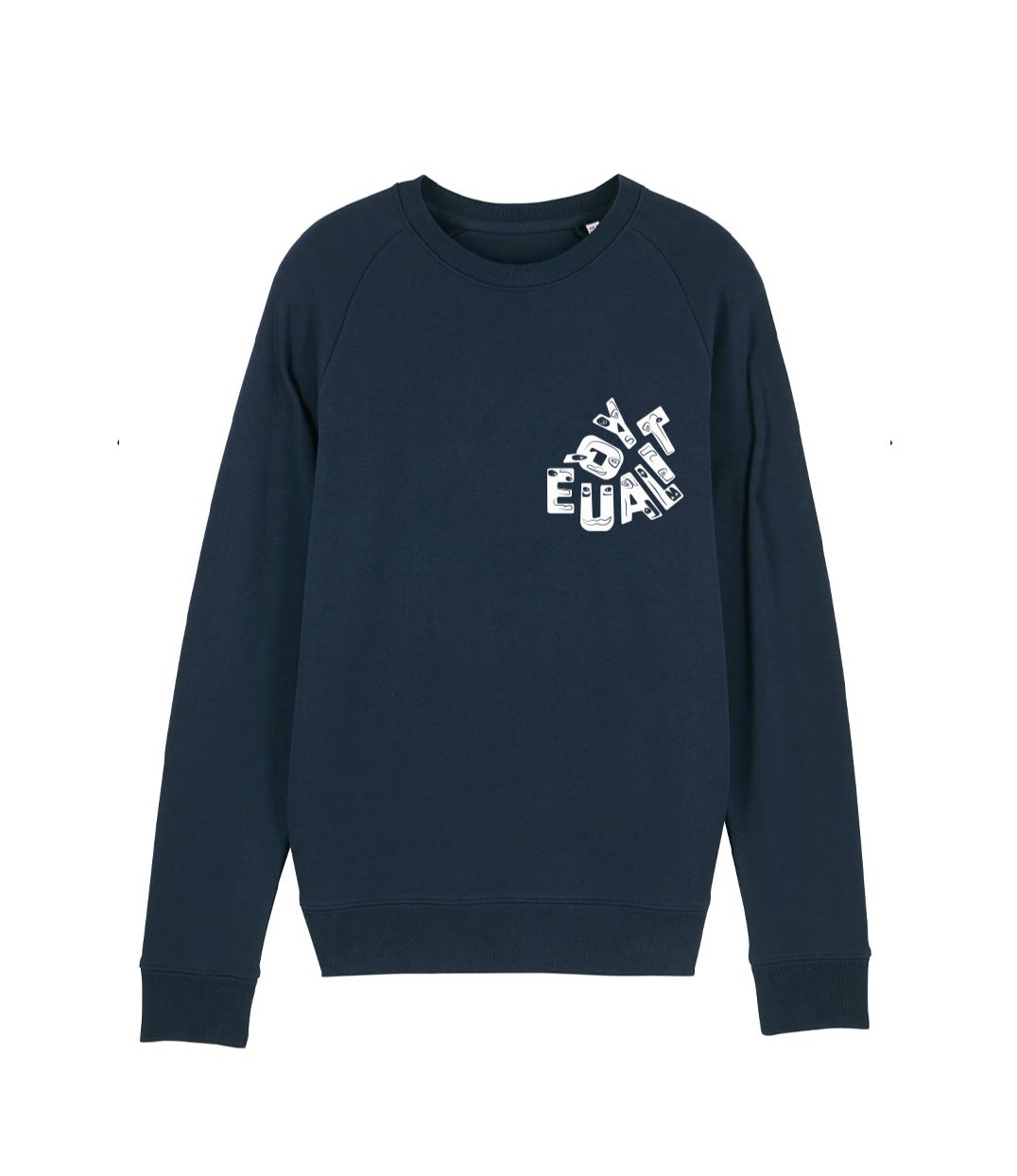 sweat bleu marine equality pour homme leonor roversi