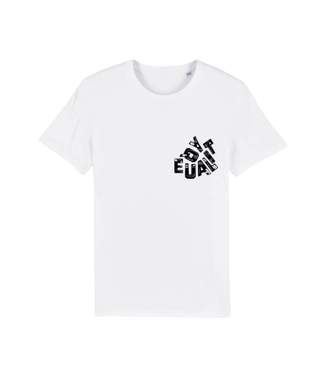 mock up unisexe t shirt blanc equality noir leonor roversi
