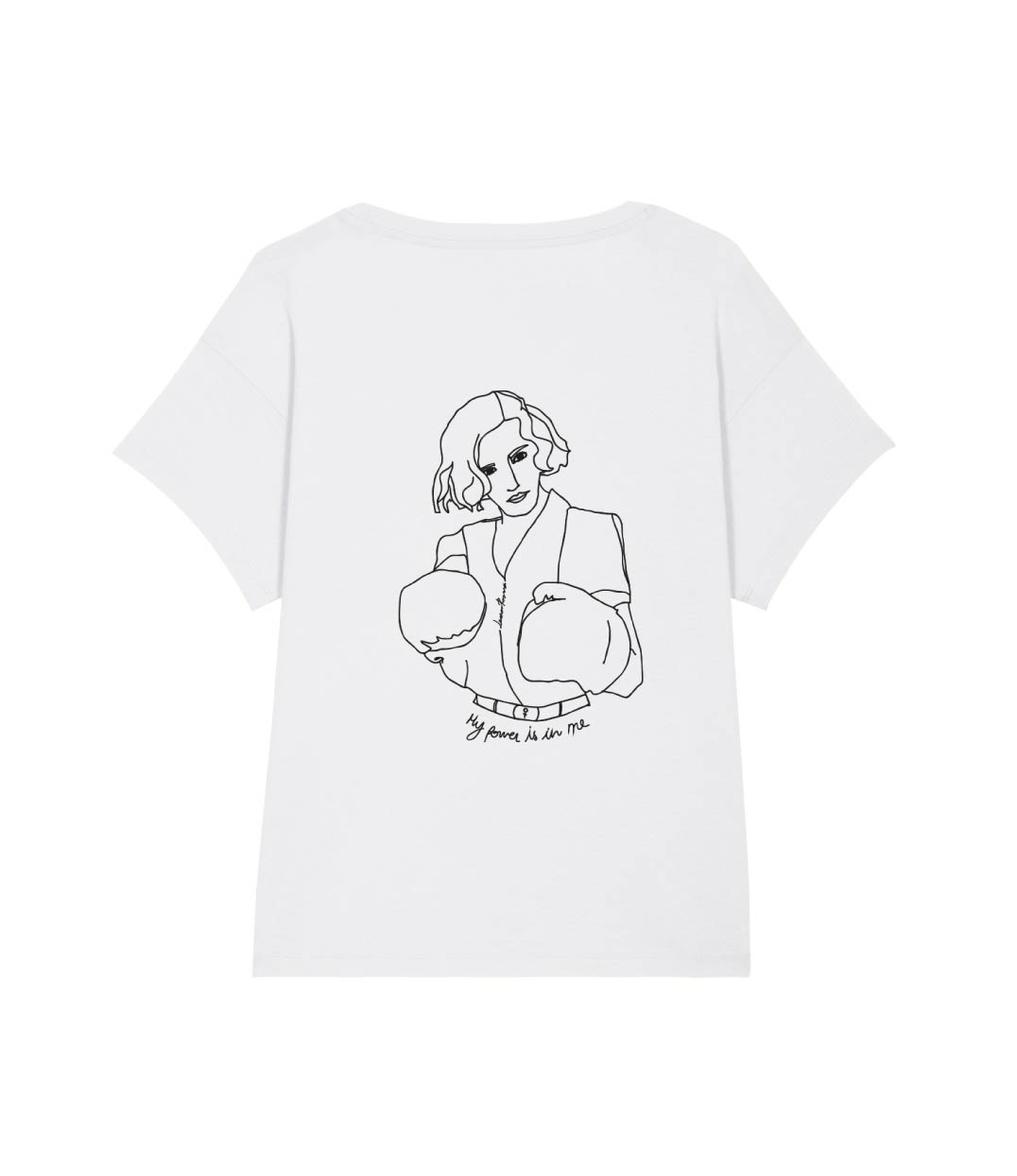 mock up tshirt loose freyja blanc de dos