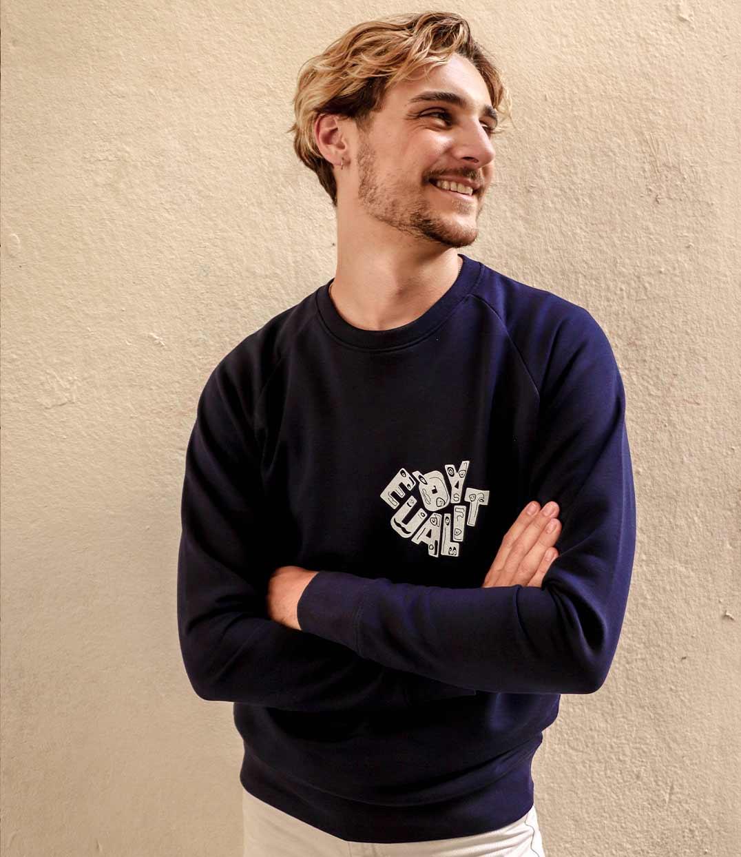 Image site sweatshirt equality bleu leonor roversi