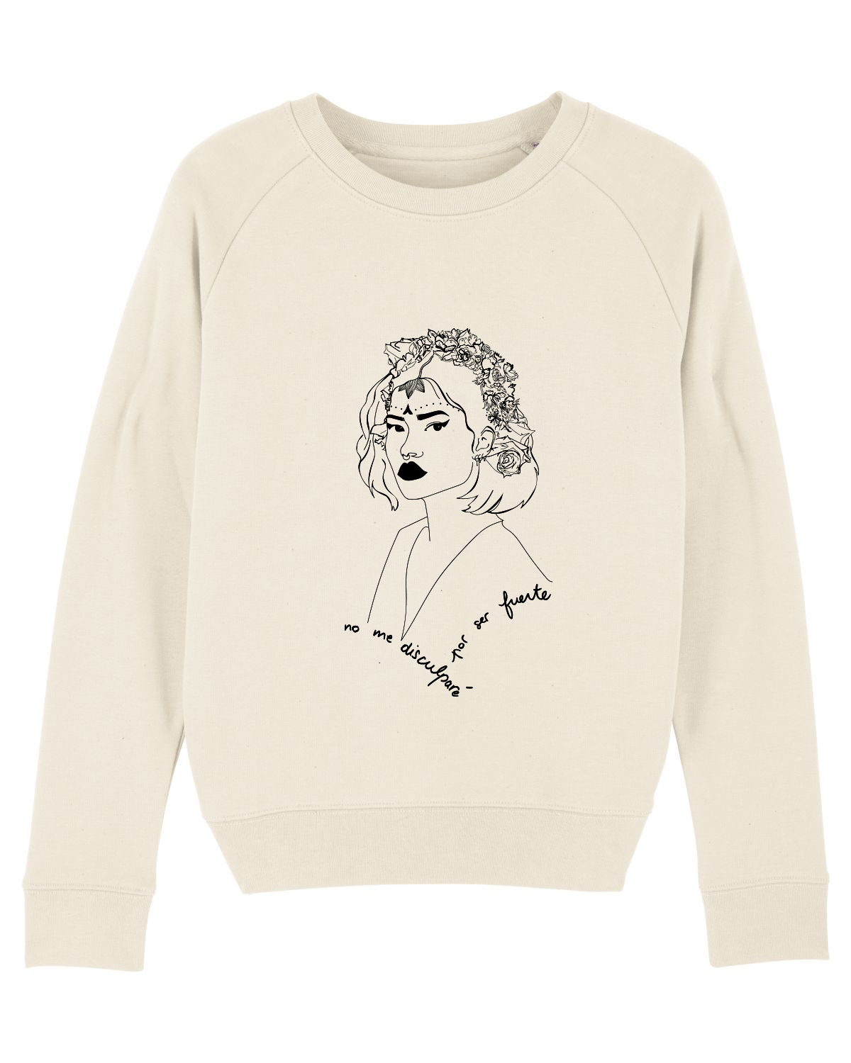 mock up sweat crème femme lupita collection reinas leonor roversi