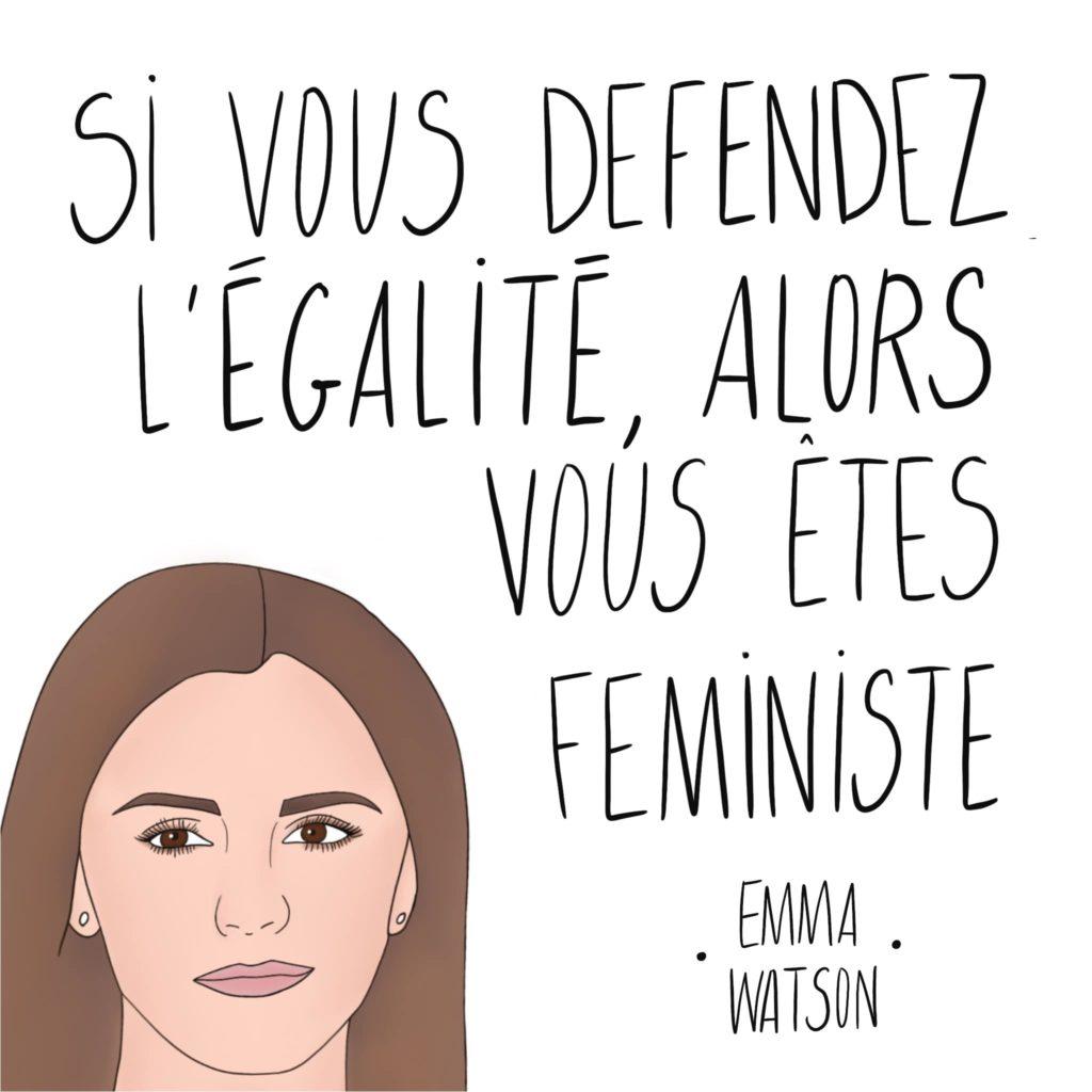 Dessin Emma Watson par Leonor Roversi avec une citation