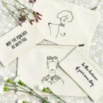 Plusieurs pochettes de la nouvelle collection leonor roversi