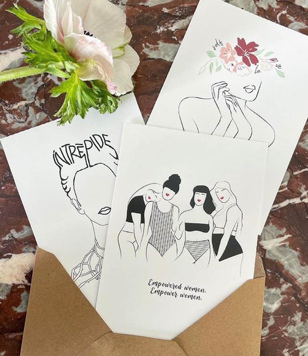 cartes postales frida self love empowered woman leonor roversi