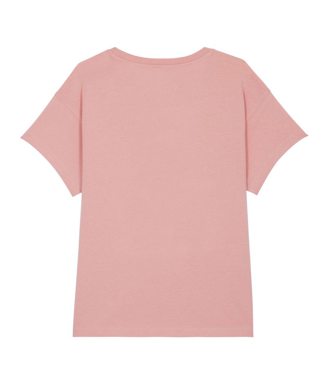 t-shirt rose de dos leonor roversi