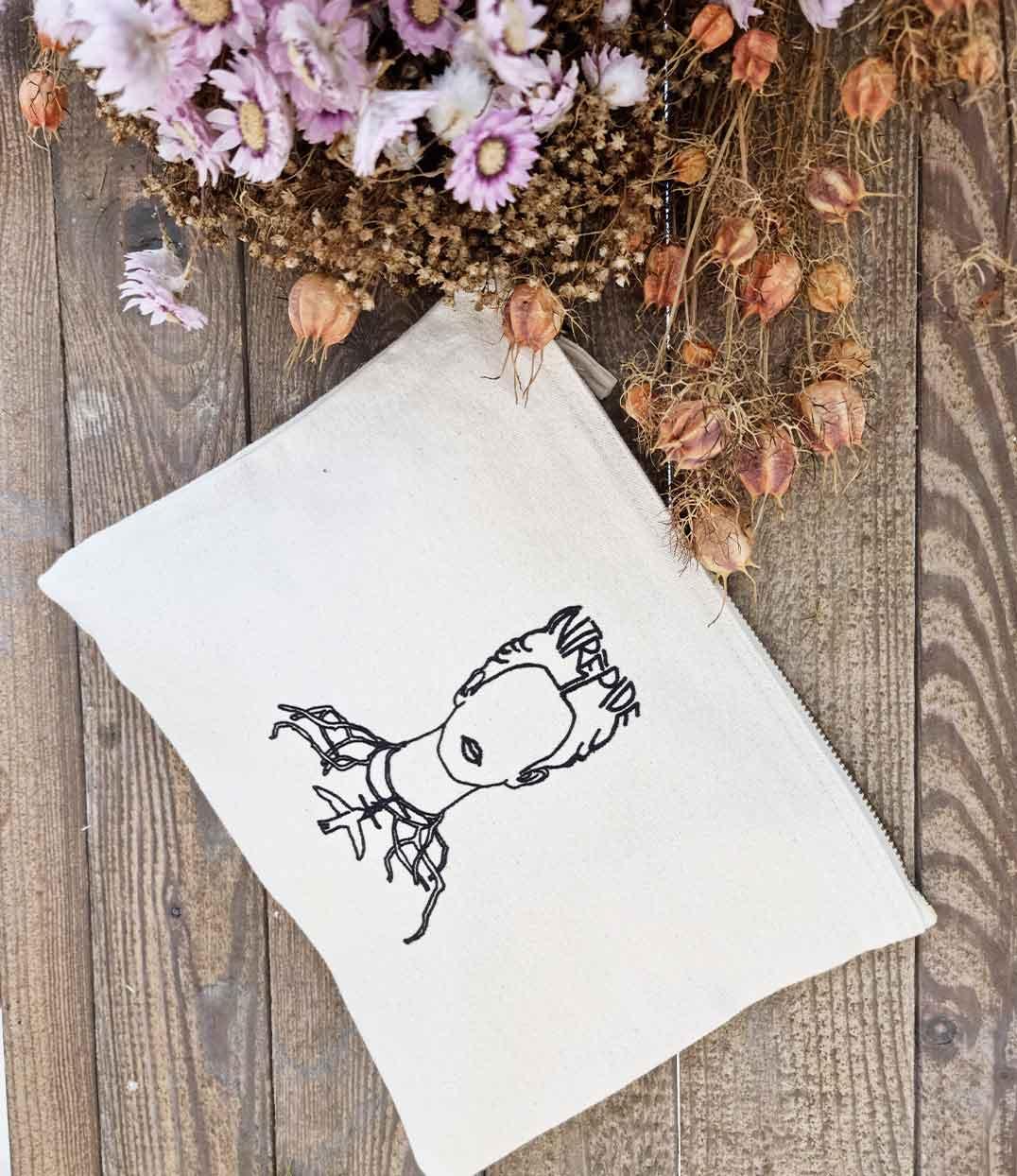 Pochette Frida Intrépide fleurs séchées