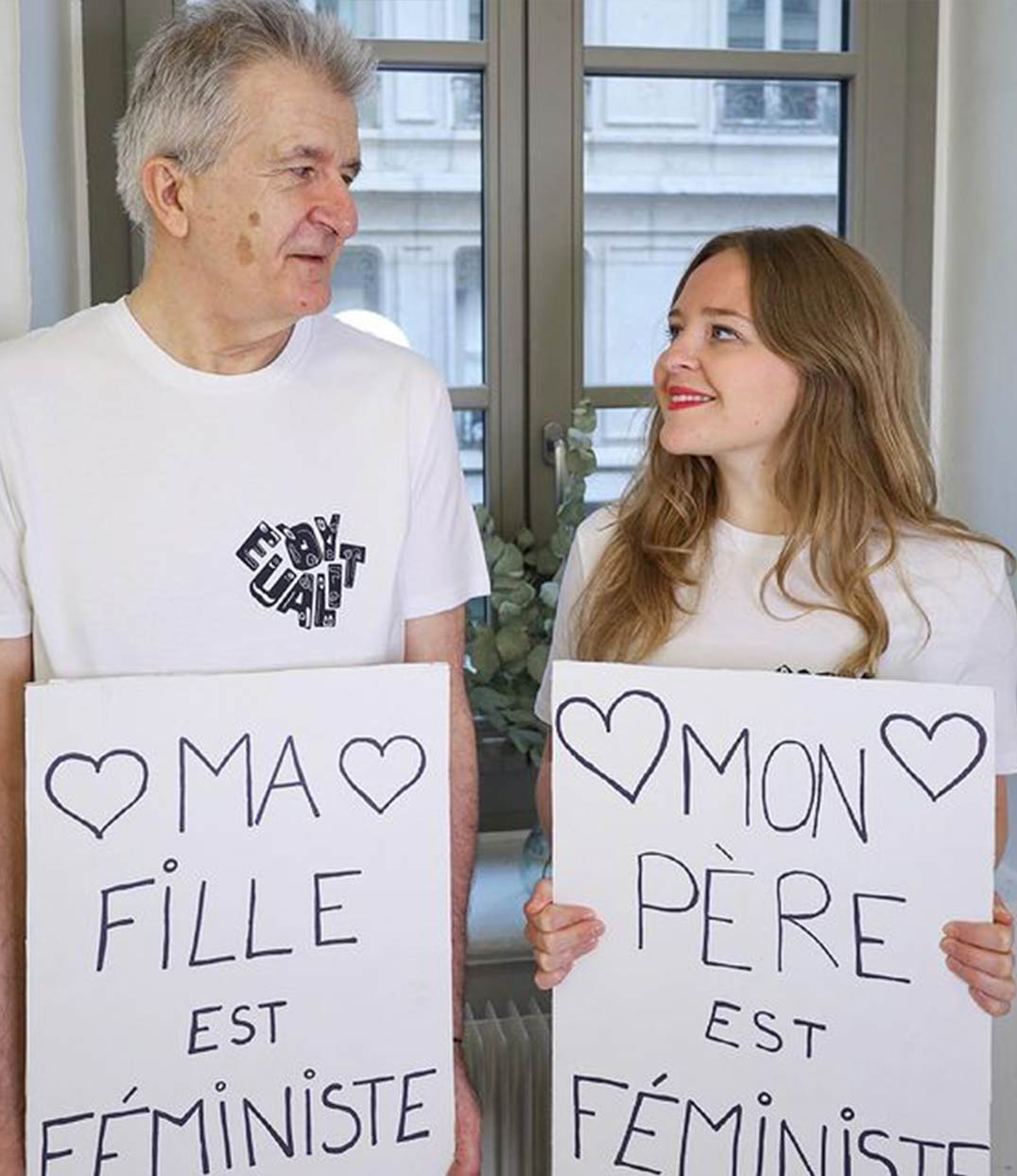 photo père et fille feministe leonor roversi