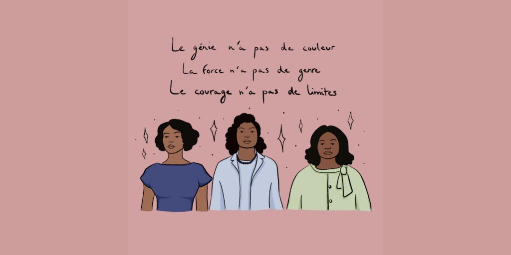 Illustration bannière article site Les Figures de l'ombre - Hidden Figures leonor roversi