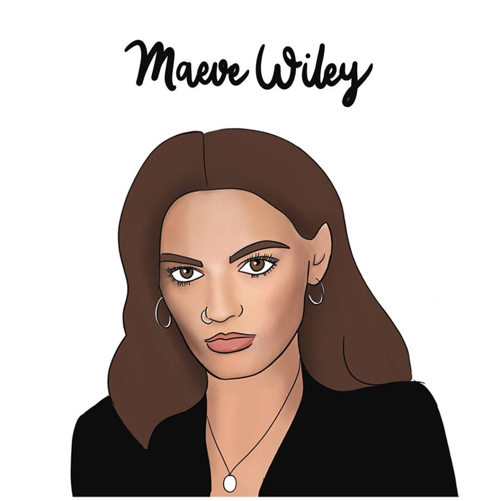 Illustration de Maeve Wiley de Sex Education, féministe